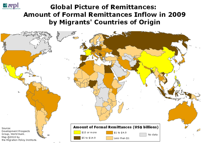 World_Remittances_Amount2009
