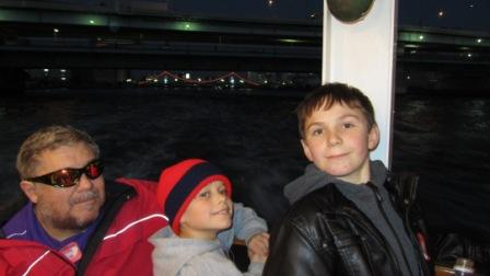 On the boat with J and C