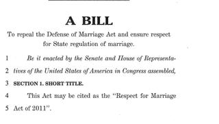 Bill DOMA REPEAL