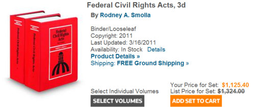 Smolla federal civil rights act3d