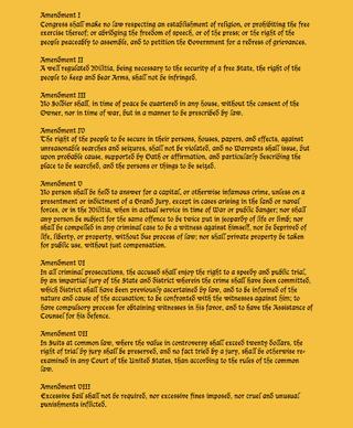 Amendments 1-8
