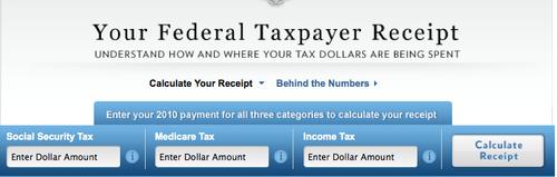 Taxpayer receipt