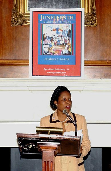 389px-Juneteenth-US_Congresswoman_Sheila_Jackson_calls_for_national_holiday-2003-06-19