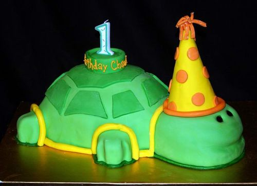 First_birthday_turtle_birthday_cake1