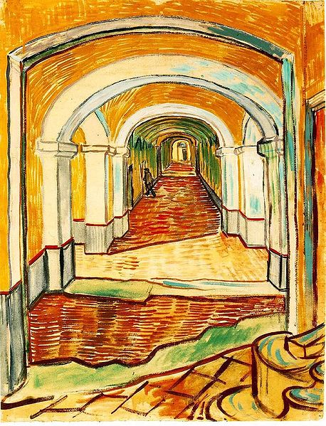 458px-Vincent_van_Gogh_-_Corridor_in_the_Asylum