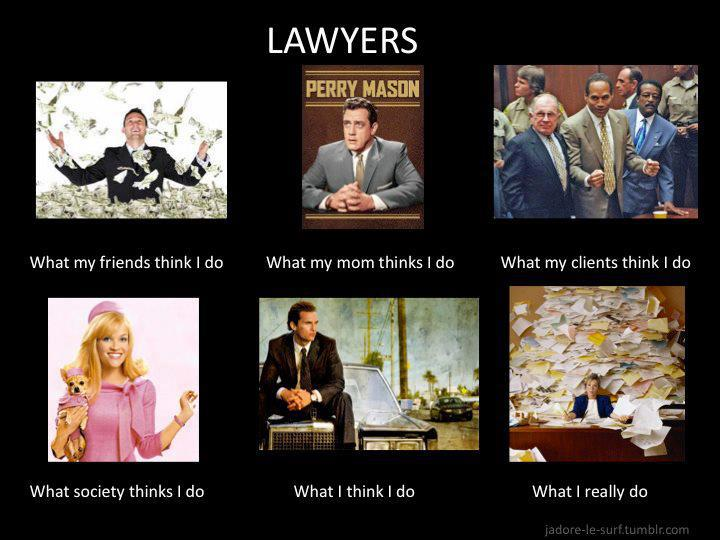 What do lawyers do