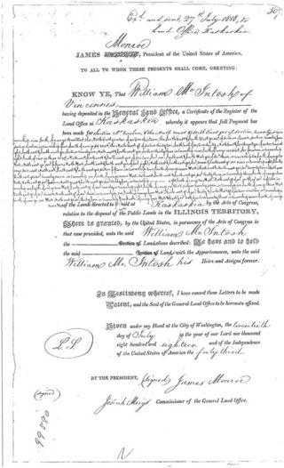 McIntosh land patent