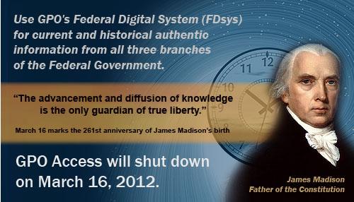 James Madison and GPO