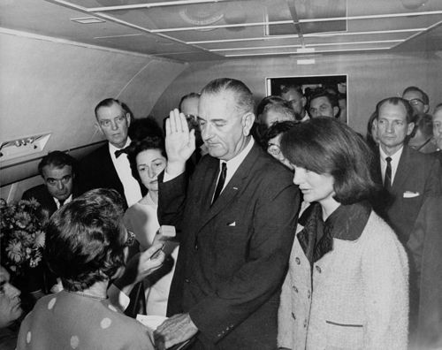 758px-Lyndon_B._Johnson_taking_the_oath_of_office,_November_1963