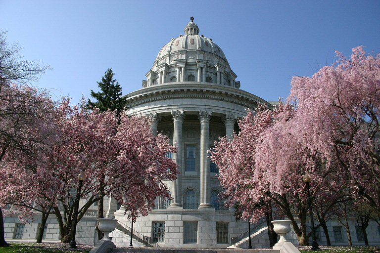 Missouri_state_capitol_with_flowering_dogwood