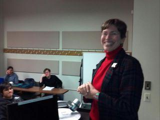 Sheila Simon LS Class Visit