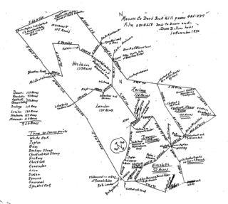 West Virginia 19th C land survey