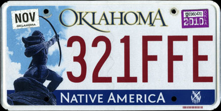 2010_Oklahoma_License_Plate