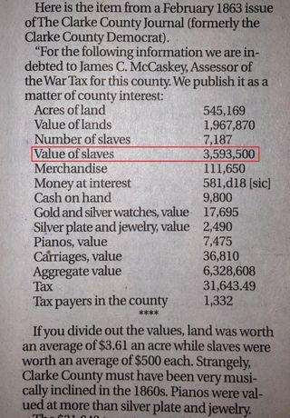 Clarke County Slavery