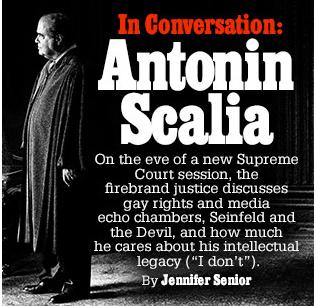 NY Magazine Cover Scalia