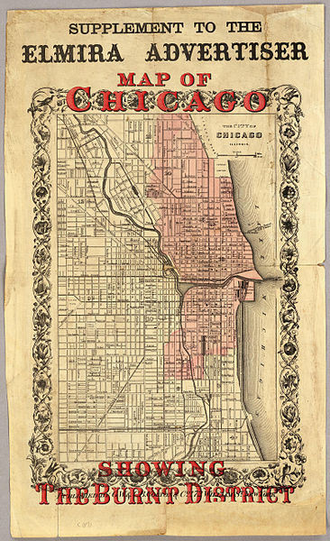 Chicago map 1871