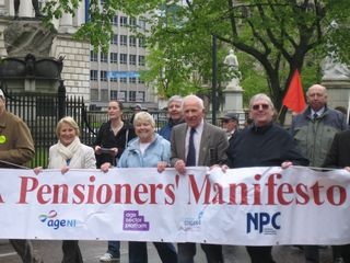 May Day Parade in Belfast 14 Pensioners' Manifesto