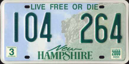 New_Hampshire_License_Plate