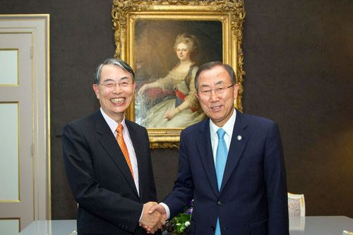 Sang-Hyun Song and Ban Ki-Moon