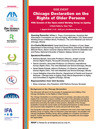 Chicago Declaration on Rights of Older Persons Side Event