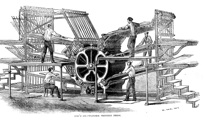 Hoe's_six-cylinder_press