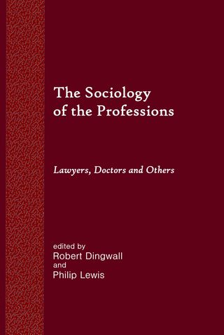 The Sociology of the Professions cover interior Q