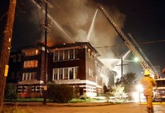 Blog -- Research -- Photo of Burning Myrtle Banks School
