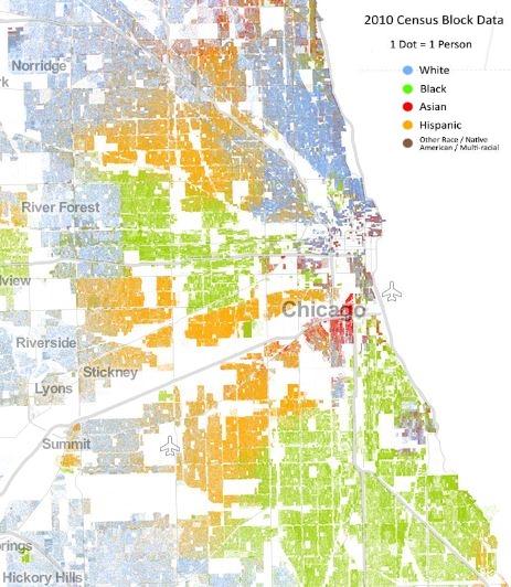 Racial Dot Map, Chicago