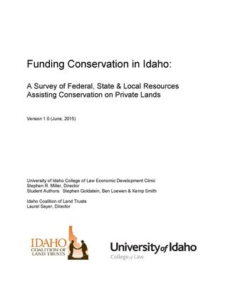 Funding Conservation in Idaho - COVER PAGE