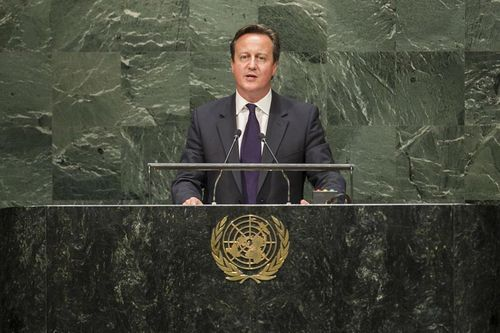 UK David Cameron at UN