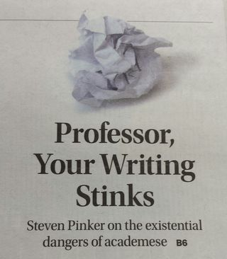 Professor Your Writing Stinks