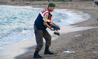 Drowned syrian child