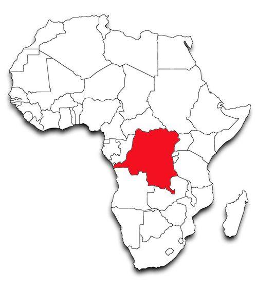 Democratic Republic of Congo Map