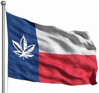 Texas Flag Weed Leaf