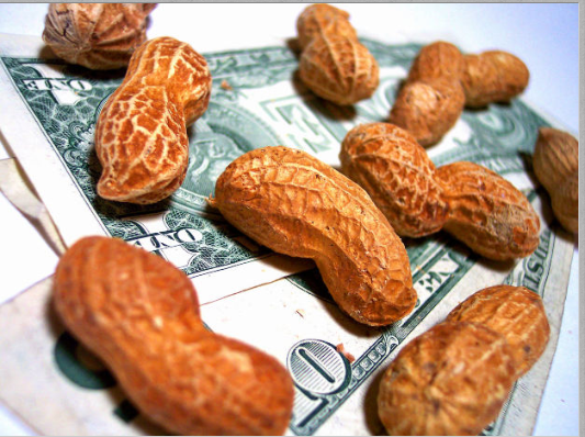 Wages and peanuts