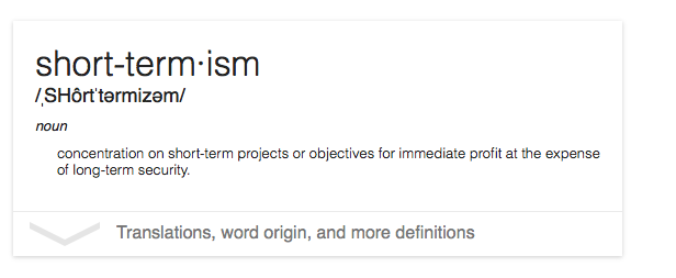 Short termism definition image