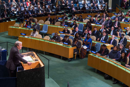UN Secretary General Guterres addresses General Assembly