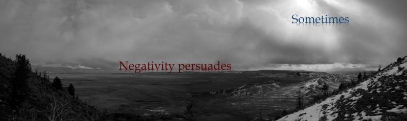 Negativity landscape