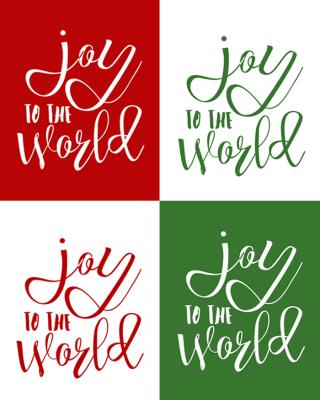 Joy to the world printable four styles