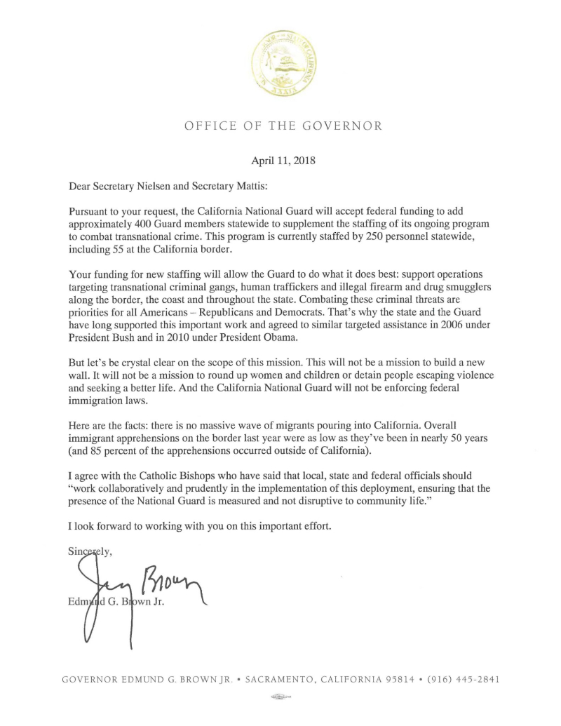 Governor-Brown-Letter-to-Sec.-Nielsen-and-Mattis-4.11.18