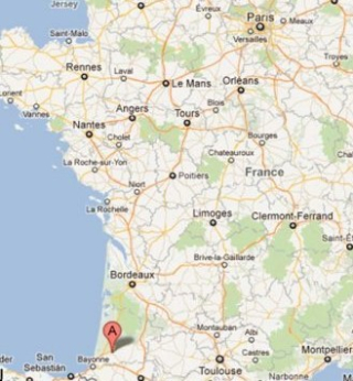 Map Dax France