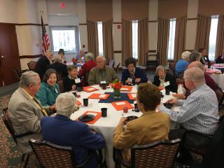 Members Gathering at Cedar Crest Retirement for April 2018 ORANJ Annual Meeting