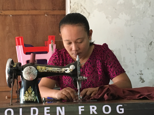 Sewing the old way  in a country that mass-produced our clothes