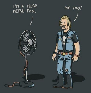 Metal Fan Cartoon