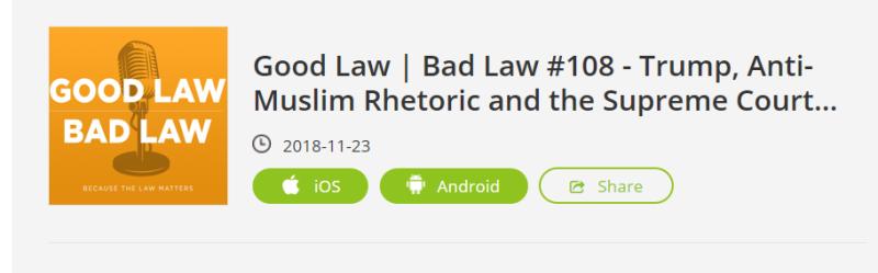 Good Law Bad Law