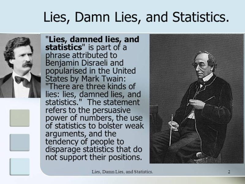 Lies +Damn+Lies +and+Statistics.