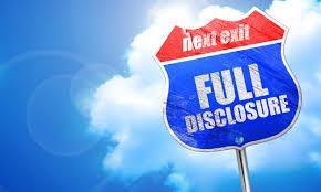 Donor disclosure
