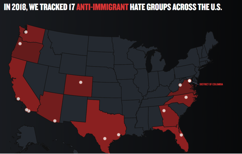 SPLC Hate Map antiimmigrant