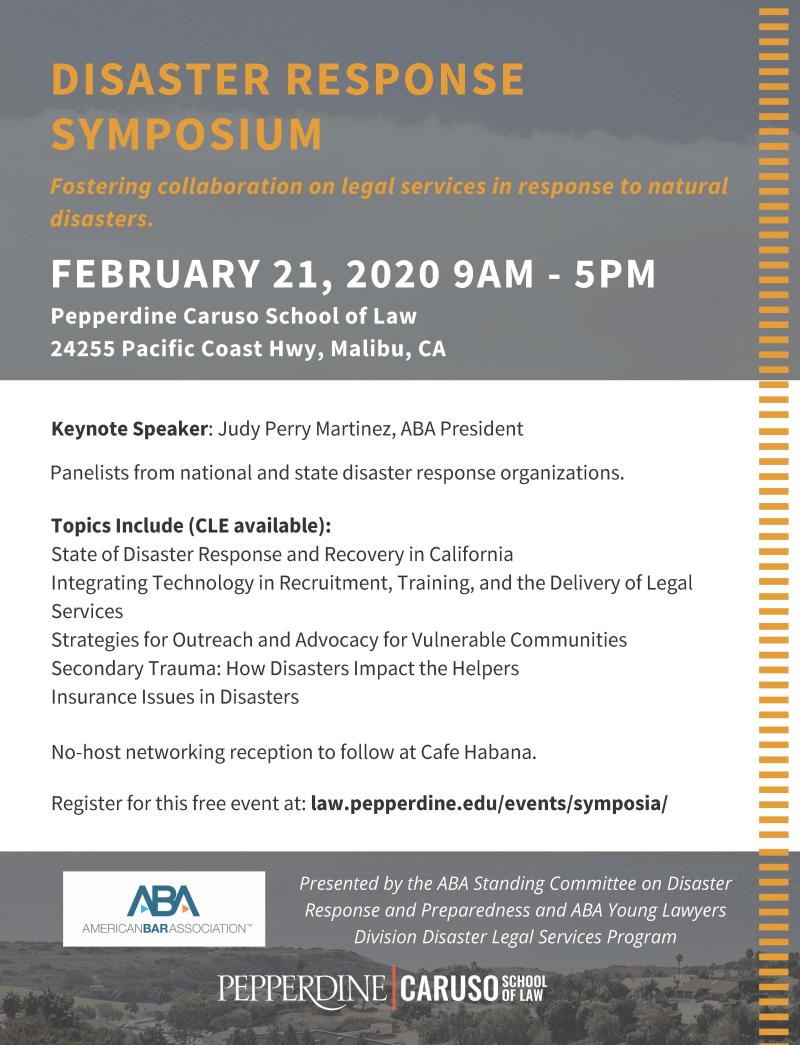 Disaster Response Symposium. 2020