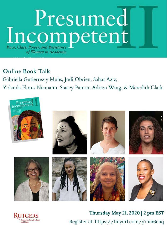 Presumed Incompetent II Book Talk Flyer